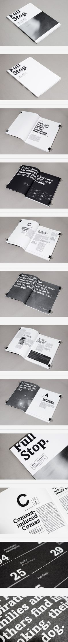 ZINE. Simple black and white, but nice range of text layouts - JB