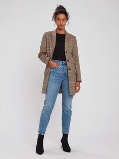 BB Dakota Check This Out Oversized Blazer Blazer Outfits Casual, Blazer Outfits For Women, Blazer Fashion, Blazers For Women, Fall Outfits, Cute Outfits, Fashion Outfits, Girly Outfits, Trendy Outfits