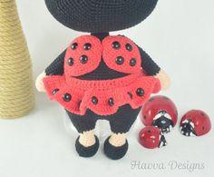 Crochet Pattern Bonnie With Ladybug Costume Amigurumi Doll