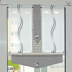 Kitchen curtains set bistro-pane curtains modern curtains 4 parts + 2 rods , Kitchen curtains set bistro-pane curtains modern curtains 4 parts + 2 rods. Modern Kitchen Curtains, Kitchen Blinds, Kitchen Curtain Sets, Modern Curtains, Cool Curtains, Kitchen Modern, Bathroom Windows, Bathroom Curtains, Glass Bathroom
