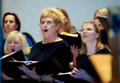 """Rosalie Griffith - soprano, and soloist who began our performance with the intro to """"In Wonder as I Wander."""""""