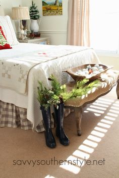 French Style Guest Room Christmas