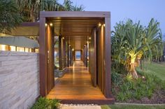 Home Decor, Amazing Entrance Design of Albatross Residence by BGD Architects
