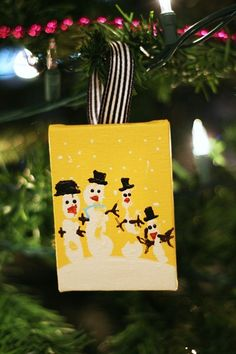 Handprint Snowman Ornament by eighteen 25
