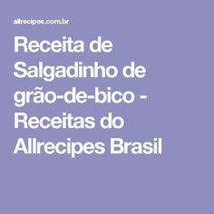 Receita de Salgadinho de grão-de-bico - Receitas do Allrecipes Brasil