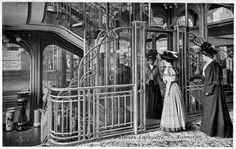 Tumblr - The elevator inside the Galeries Lafayette Department Store, Paris