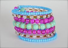 Bohemian Statement Bracelet Bright jewelry by TheGirlOfSummer