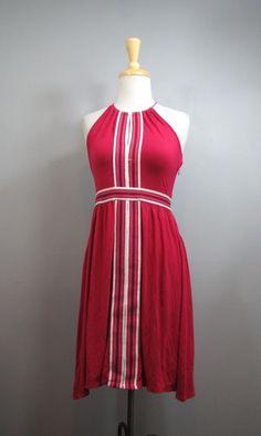 PLENTY by TRACY REESE Anthropologie Magenta Flattering Keyhole Halter Dress XS #shopmodo #modoboutique www.modoboutique.com