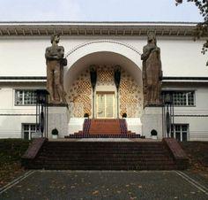 Дом Эрнста-Людвига, Дармштадт, 1900-1901 г. Фрагмент фасада. Й.Ольбрих.