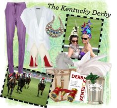 """Kentucky Derby"" by buttonbaby ❤ liked on Polyvore"