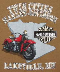 Twin Cities Harley Davidson T-shirt 2XL XXL Brown Lakeville Mn Graphic Tee SS #HarleyDavidson #GraphicTee$27.99