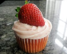 strawberry cream cheese cupcakes - the recipe calls for box mix, which I am adamantly against, but that could easily be replaced with a homemade white cake mix