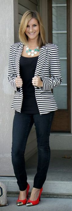 d912afbff5f6 50 Trends You May Have Missed About black and white striped blazer womens