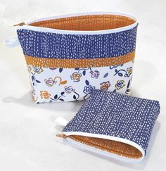 These handy bags are perfect best friends to stow and go. Large Becca is adorned with a high-waisted fabric flange to accent her beautiful style. Add easy grab tabs from leftover zipper bits. With Lazy Girl's One-Zip technique, cut a basic zipper apart, take off the pull, then stitch one side of the zipper tape … Zipper Bags, Zipper Pouch, Zipper Pulls, Bag Patterns To Sew, Sewing Patterns, Lazy Girl Designs, Pouch Pattern, Becca, Pattern Paper