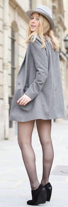 Grey Fab Coat