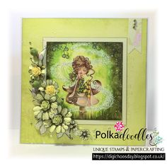 Image: Polkadoodles Serenity Blossom Papers: Polkadoodles Eden Stamps: Polkadoodles Lavender Tea Stamp Soup & DaisyDays