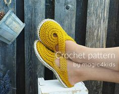 CROCHET PATTERN- women twisted strap clogs with rope soles,soles pattern include. Crochet Shoes Pattern, Shoe Pattern, Crochet Slippers, Crochet Patterns, Crochet Woman, Knit Crochet, Basic Crochet Stitches, T Shirt Yarn, Crochet Gifts