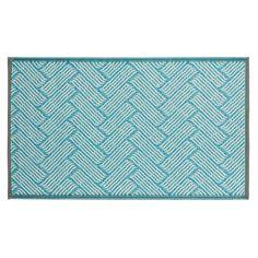 Teppich Outdoor Wave blau ca L:90 x B:150 cm (95% Polypropylen, 5% Polyester)
