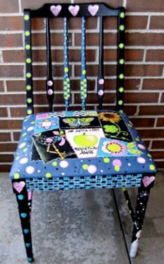 Whimsical Chair project from DecoArt