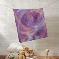 #customize - #Ho'oponopono Purple Smoke Swaddle Blanket