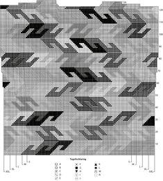 Imponerende flot bluse, som tager lidt tid og tålmodighed. Det er en typisk Kaffe Fassett-model, strikket i intarsia. Der er brugt 14 forskellige farver. Pinde 5. Læs mere ...