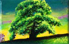 A View with a Tree by Ria Janta-Cooper, tiny painted canvas, small affordable artwork, gift idea     £60.00