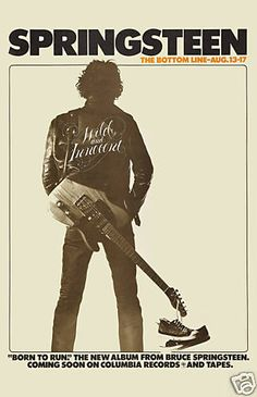 Bruce Springsteen  at the Bottom Line Club in New York City Concert Poster 1975