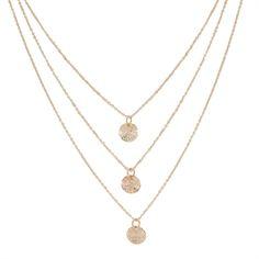 Carole Juniors Three Layer Charm Necklace | from Von Maur #VonMaur #LayeredNecklace