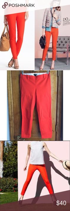"""30% OFF BUNDLES J. Crew City Fit Pants in Red NWOT The ever so wonderful city fit pants from J. Crew. They are a classic. Every closet needs one. You need one. You know it. Don't resist, you'll thank yourself later. Waist:15"""" Inseam:25.5"""" All measurements are taken with the item laid flat.  Condition: New Without Tags. NEVER Worn. Material: See photos. Color: Red 30% off on bundles // I ship same-day from pet/smoke-free home. Buy with confidence. I am a top seller with close to 500 5-star…"""