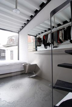 """Container office + house sculp(it) (Shipping Container Architecture) (2)...""""The S4"""" cargo container - shit, shower, shave & sleep in the same space!  Like a luxury prison cell only access to more outfits!   ha!"""