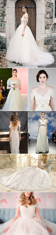 The dresses on the 2015 bridal runways were fresh, beautiful, and effortlessly elegant. Whether it's illusion detailing, new pops of color, whimsical tiers, off-the-shoulder necklines, or stunning back designs, there are so many wow-worthy details to gush over and a unique look for every bride! Here are some of the most popular wedding dress trends …