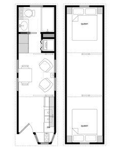 8x28 coastal cottage 1 Plan Tiny House, Tiny House Layout, Small Tiny House, Tiny House Cabin, Tiny House Living, Tiny House On Wheels, Tiny House Design, Tiny Houses, Living Room