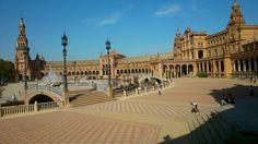 Luz en La Plaza de España de Sevilla