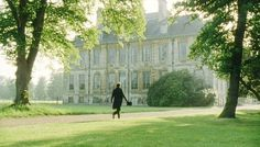 Darcy, rejected by Elizabeth Bennet, strides towards the West Front, Belton House