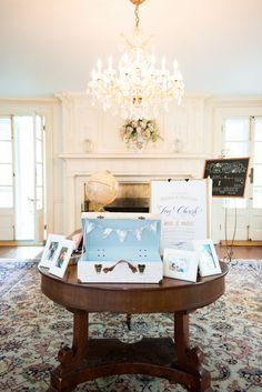Travel Themed Welcome Table | Daisy Saulls Photography
