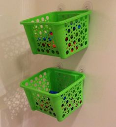 Link Party- shower toy basket on A Bowl Full of Lemons