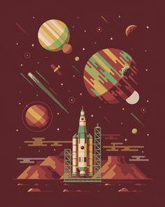 "OMG Posters!  » Archive  ""Explorers Club: Rocketeer Series"" Art Prints by DKNG"