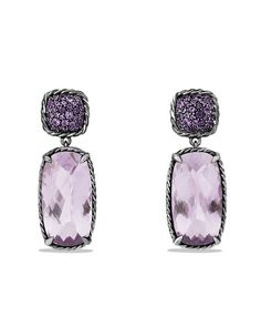 DAVID YURMAN Chatelaine Drop Earrings with Lavender Amethyst and Purple Sapphires $1795 (Compare Elsewhere $1950) SHIPS FREE BEST PRICES YOU WILL FIND ANYWHERE ON GENUINE LADIES DESIGNER BRANDS! FREE WORLD SHIPPING & LOCAL DELIVERY AVAILABLE AT THE SURF CITY SHOP in Huntington Beach, California Major Credit Cards Accepted