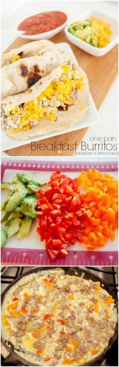 Easy dinner idea for those busy summer nights!  Breakfast Burritos recipe!