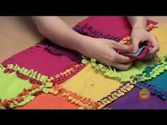 Knot a quilt... this could be a great project for mother/daughter... The one on the video comes as a kit - however I don't think you'd need a kit... just buy the fleece