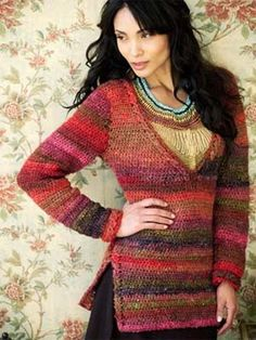 Noro crocheted pullover ~ drool