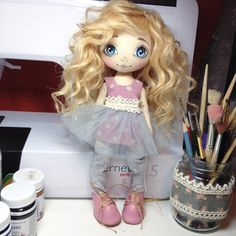 «Большое спасибо за поздравления и ваши теплые слова! Куколку дочке подарила, ей очень понравилась, играет с ней постоянно, обувь сама ей сделала сменную,…»