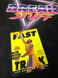 Kobe Bryant Fast Track Card #kobebryant #blackmamba #lalakers #lakers #nbacards #basketballcards #panini #paniniamerica #whodoyoucollect #tradingcards #marketplace #ballin #ballislife #collector #cardcollector Black Mamba, Basketball Cards, Kobe Bryant, Trading Cards, Nba, America