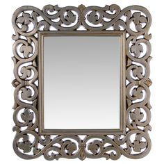 #Espejo con #marco #color #plata #enredadera.Un marco de #líneas #clásicas con #flores #entrelazadas. Un #objeto cargado de #estilo para que tu #hogar exprese tu propia #personalidad.