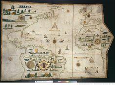 [Carte de l'Océan Atlantique] / Ceste carte a Esté faiste Au havre de Grace Par Pierre Devaux, Pilote Géographe Pour le Roy, l'an 1613