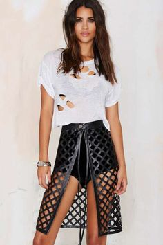 Beautiful Stranger Laser Cut Skirt