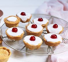 Bake classic Bakewell tarts with this easy recipe, perfect for everyday baking and occasions. Find more cake recipes at BBC Good Food. Cherry Recipes, Tart Recipes, Dessert Recipes, Desserts, Dessert Tarts, Dessert Food, Sweet Recipes, Nutella, Easy Baking Recipes