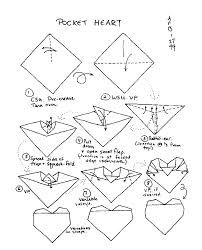 Origami Hearts Diagrams For Folding Paper