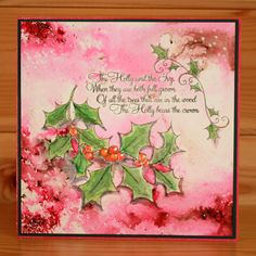 Christmas has arrived at Hobby Art! Introducing 'The Holly & The Ivy' designed by the very talented Sharon Bennett. Clear set contains 13 clear stamps. Overall size of set - 100mm x 260mm approx. Card by Anna Flanders