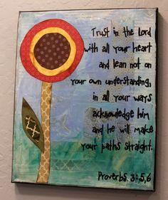 Canvas Scripture Art by MessyGirlArt on Etsy, $24.00